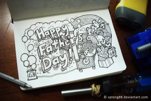 Doodle: Happy Father's Day by vicenteteng
