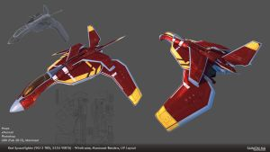 Spacefighter Modelsheet2 Marmo by softmode
