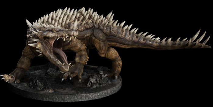 Jeff Bracey's Anguirus by LDN-RDNT