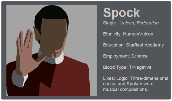 Dating Fictions - Spock by TheNYRD