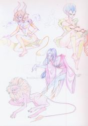 Sketchbook Scan : Cardians : Sailor Moon by Dark-elfa