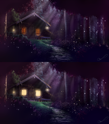 Commission #2: Forest Cabin by Martith