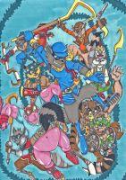 Sly Cooper and the gang by sonkkuli