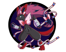 [SpeedArt] Pokefusion: Sylveon and Zoroark