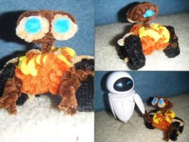 pipecleaner wall-e by zookydragon