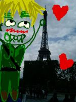 England and the Eiffeltower by Spirit-Senpai