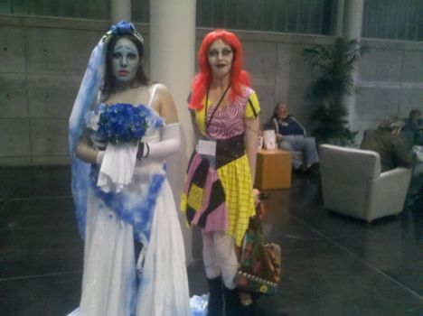 TNBC Sally and Corpse Bride Emily by Mythhunter
