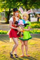 Nami, Carrot, Chopper Whole Cake Island Cosplay by firecloak