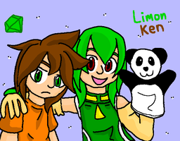 Ken, Limon and panda -shade- by mitchika2