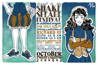 shakespeare festival publicity by chibighibli