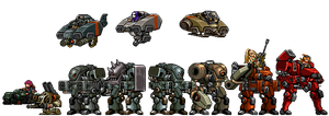 Ptolemaic Mechs, Bike and Hovers by Freak-Ops