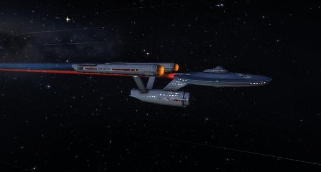 U.S.S. INTERPRISE AT WARP SPEED by starbase54