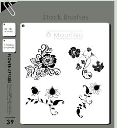 Brush Pack - Flower Affairs by iMouritsa