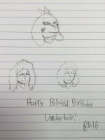 Happy Belated Birthday Undertale! by FriendlyHougen