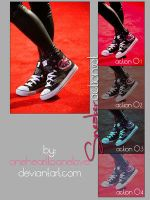 sneaker action set by onehearttonelove