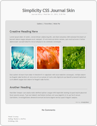 Simplicity Journal Skin CSS by SimplySilent