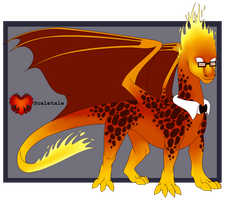 Scaletale Grillby by CriexTheDragon