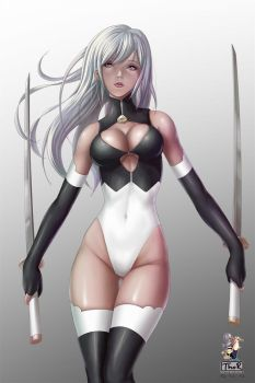 Nier Automata inspired Girl by EvilFlesh