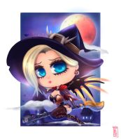MERCY - HALLOWEEN (chibi) by inoxdesign