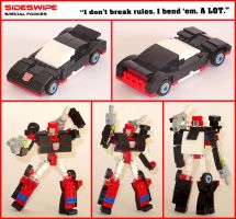Lego Transformers - Sideswipe by Librarian-bot