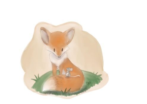 Fox and Mouse by Raiinbolivia