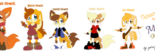 Mobiture: Sky Dreamers - The Prower kids by galaxypuppyelectric