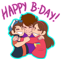 Bday-Twins by Gell-pen