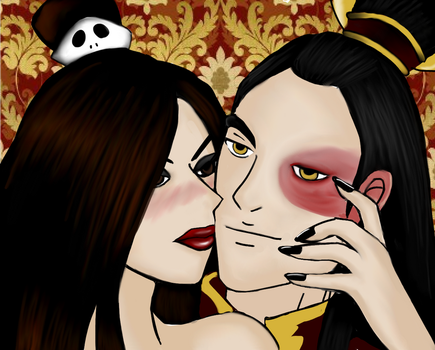 Firelord Zuko and Bounty Hunter June by Raisha-san