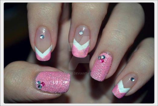 Sparkly Baby Pink Princess- Nails by ViiviASD