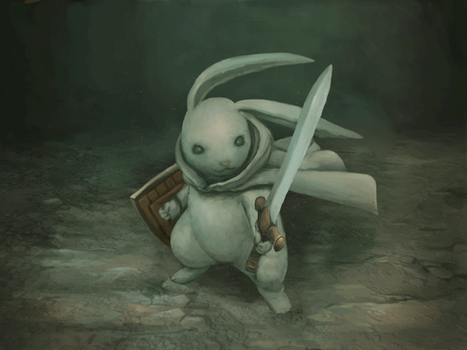 Rabbit Knight - Animated (Original Image by pc-0) by Malchutash