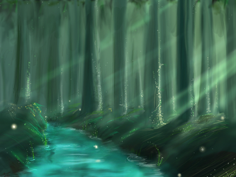 Forest light by chiri-chan