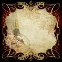 Vintage frame decor spring Paris by Lyotta