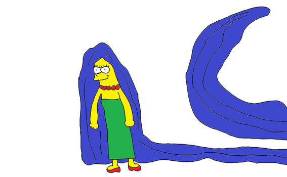 Marge Simpson Really Long Hair by Simpsonsfanatic33