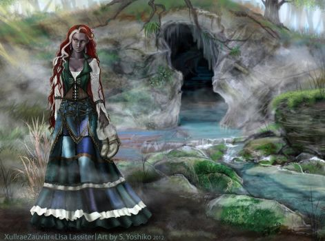 Xullrae outside the hot springs cave by SYoshiko