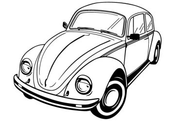 Volkswagen Beetle Vector by wall-decal-shop