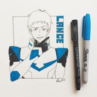 Inktober Day 22 - Lance from Voltron by Serina67