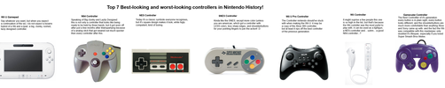 Top 7 Nintendo controllers by Morggehan