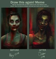 Draw this again! Meme [Zombie Girl] by charlotvanh