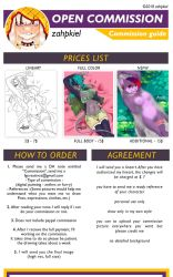 OPEN Commission -  Commission Guide by zahpkiel