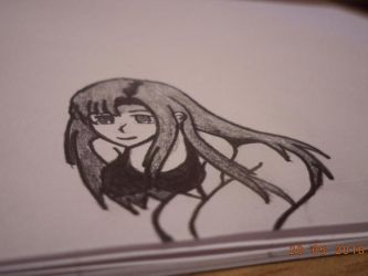 anime girl drawing by me by naruXhinata