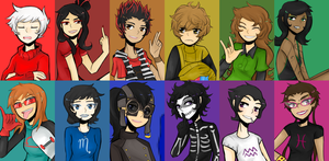 Humanstuck (pre-scratch version) by Rolling-Mozaik