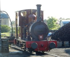 Dolgoch at Tywyn Wharf Stn. Coal Dock by rlkitterman