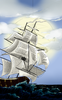 The Night Circus : The Book Ship by Sombrewood