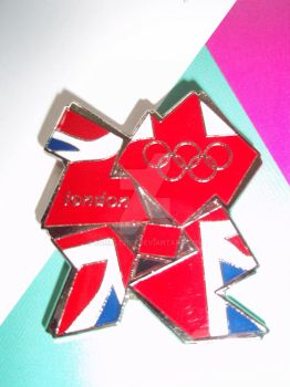 London Olympic 2012 Union Jack Pin Badge by Bumble2011