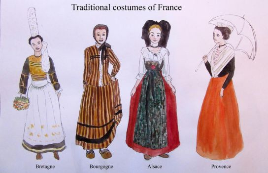 Traditinal costumes of France by Raagane
