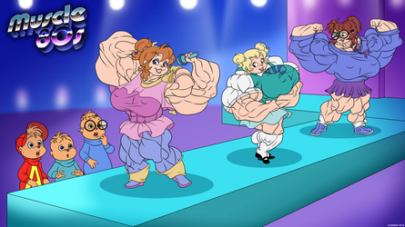 Muscle 80s - The Chipettes. by Atariboy2600