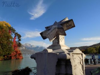 Brother Arsen Sundial - Annecy's Lake by Nuttestla