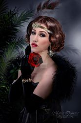 Girl with a rose/ chicago style/ by anais-anais61