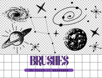 Brushes 005 // Space by BEAPANDA