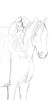 Girl And Horse by MooseBoots